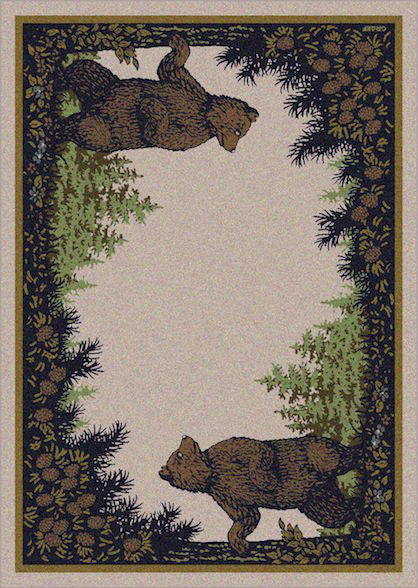 Cabin Rugs | Twin Bears Lodge Rug | The Cabin Shack