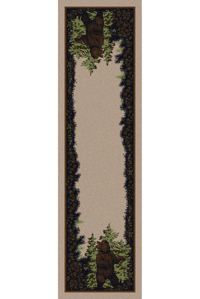 Cabin Rugs | Twin Bears Lodge Rug Runner| The Cabin Shack