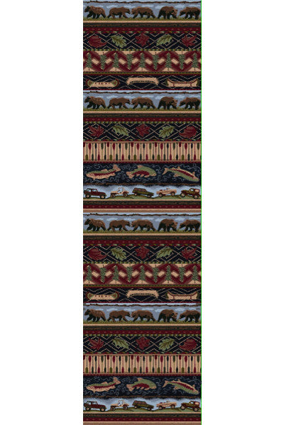 Cabin Rugs | Wilderness Trek Lodge Rug Runner | The Cabin Shack
