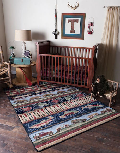 Cabin Rugs | Wilderness Trek Lodge Rug Nursery | The Cabin Shack
