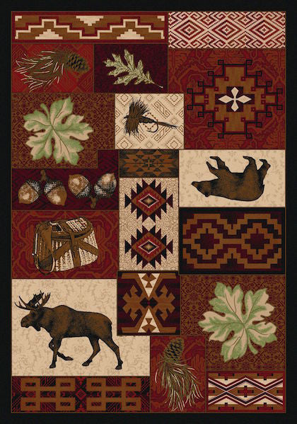 Cabin Rugs | Wildlife Picnic Lodge Rug | The Cabin Shack