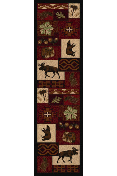 Cabin Rugs | Wildlife Picnic Lodge Rug Runner | The Cabin Shack