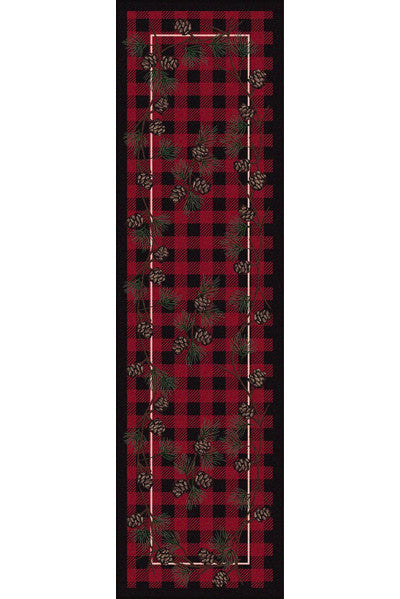 Cabin Rugs | Wooded Pines Red Lodge Rug Runner | The Cabin Shack