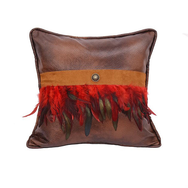 Southwest Feathers Throw Pillow | The Cabin Shack
