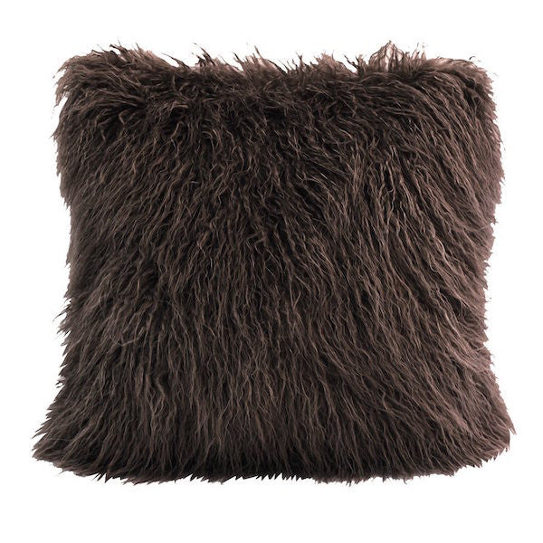 Mongolian Fur Throw Pillow | The Cabin Shack