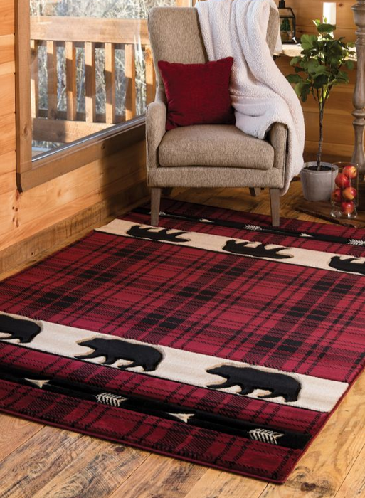 Camp Red Triplets Rug | The Cabin Shack