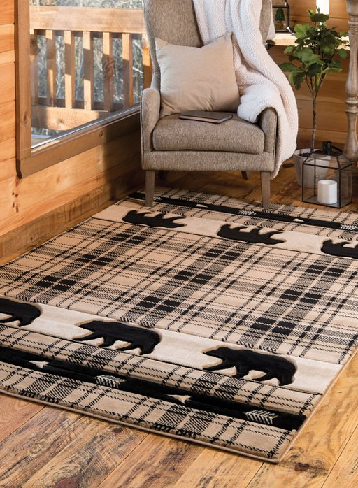 Camp Tan Triplets Rug | The Cabin Shack