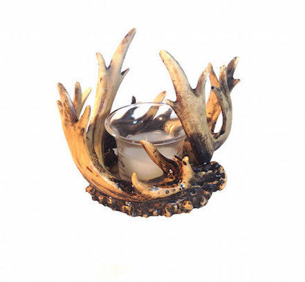 Cabin Decor - Antler Candle Holder - The Cabin Shack