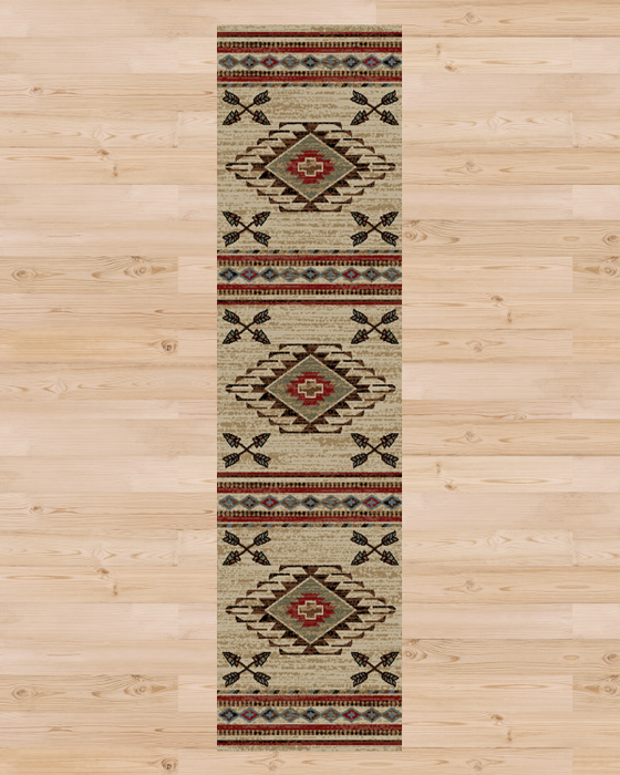 Cross Arrows Rug Runner | Rugs For Sale Outlet