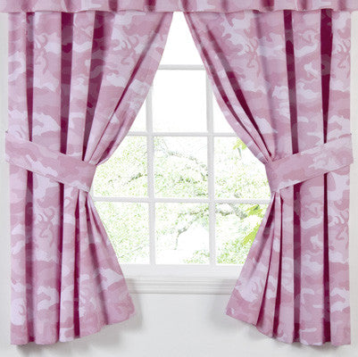 Cabin Decor - Browning Camo Pink Rod Pocket Curtains - The Cabin Shack