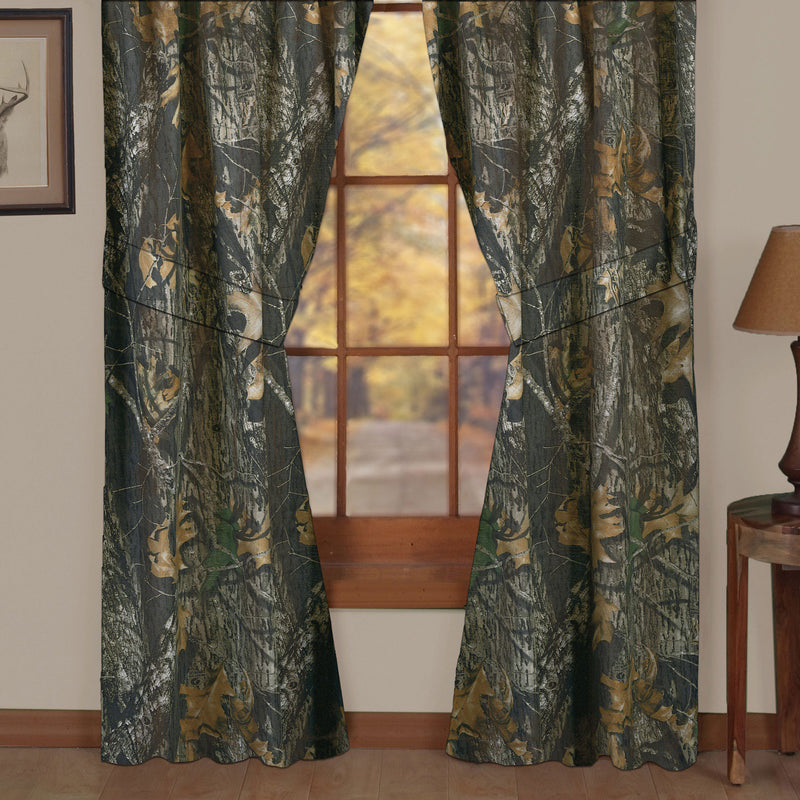 Cabin Decor - Mossy Oak Camo Rod Pocket Curtains - The Cabin Shack