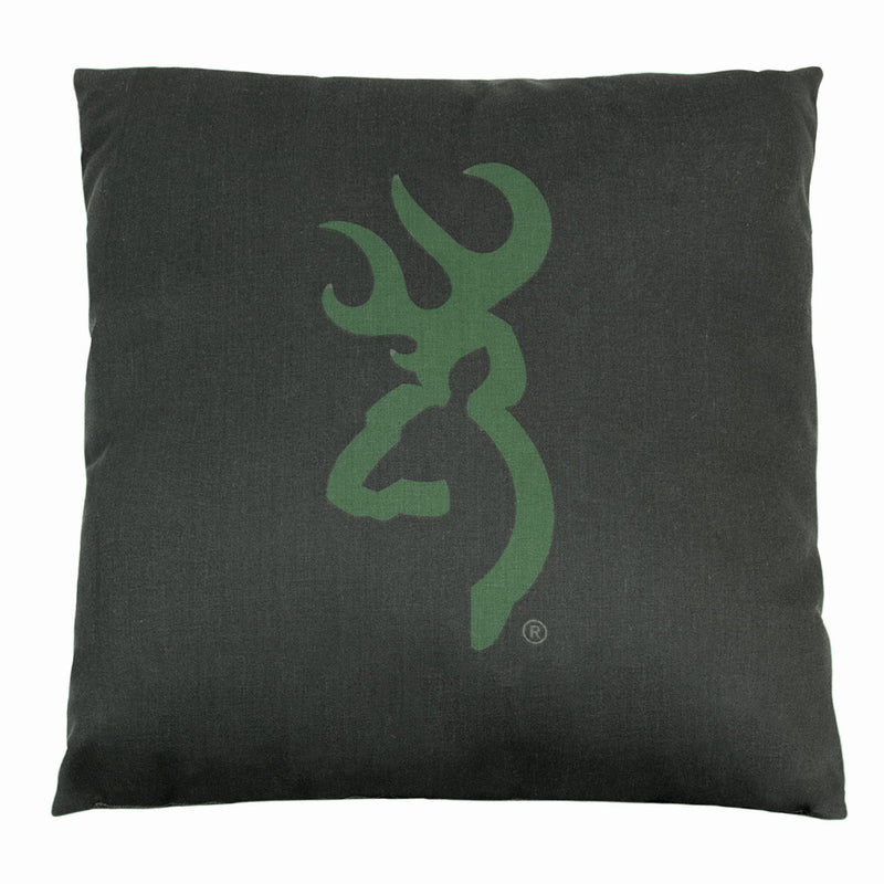 Cabin Decor - Buckmark Camo Dark Green Throw Pillow - The Cabin Shack
