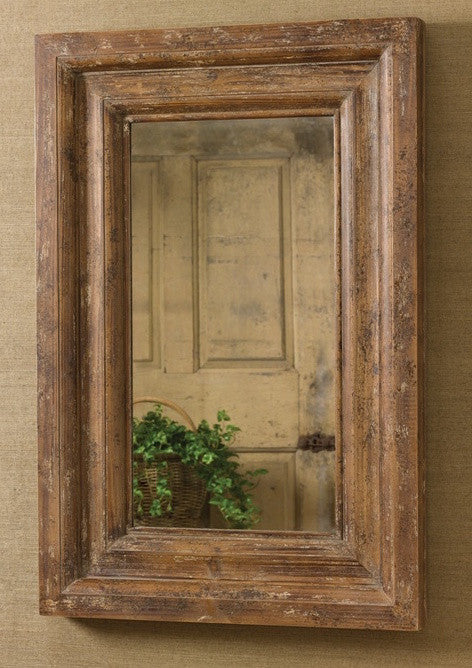 Distressed Wood Mirror for Rustic Decor | The Cabin Shack