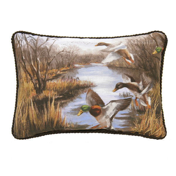 Duck Approach Throw Pillow | Oblong | The Cabin Shack