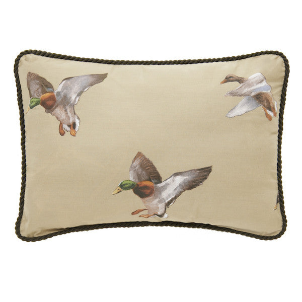 Duck Approach Tan Throw Pillow | Oblong | The Cabin Shack