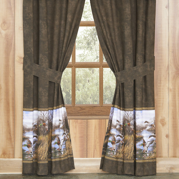 Duck Approach Valance And Curtains The Cabin Shack