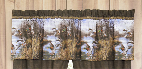 Duck Approach Window Valance | The Cabin Shack