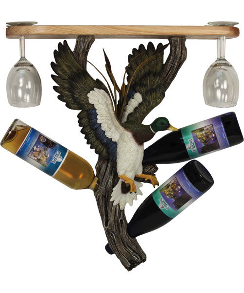 Duck Shelf with Glass and Wine Holder | The Cabin Shack