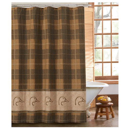 Ducks Unlimited Plaid Shower Curtain | The Cabin Shack
