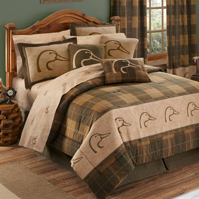 Cabin Decor - Ducks Unlimited Plaid Bedding Set - The Cabin Shack