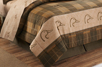 Cabin Decor - Ducks Unlimited Plaid Complete Bed Set - The Cabin Shack
