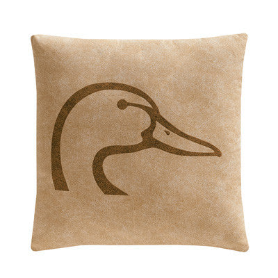 Cabin Decor - Ducks Unlimited Throw Pillow - Tan - The Cabin Shack