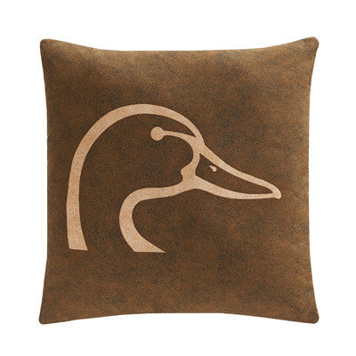 Cabin Decor - Ducks Unlimited Throw Pillow - Brown - The Cabin Shack