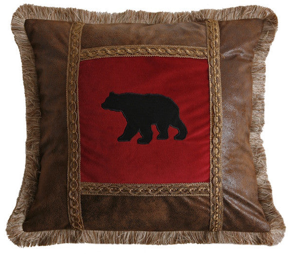 High Point Bear Throw Pillow | The Cabin Shack