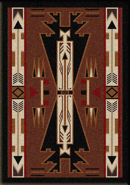 Native Arrow Brown Lodge Rug Collection
