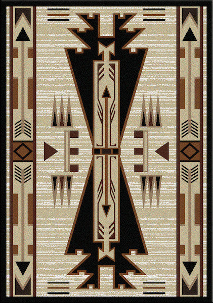 Native Arrow Rustic Lodge Rug 3x4 | The Cabin Shack