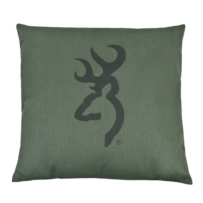 Cabin Decor - Buckmark Camo Light Green Throw Pillow - The Cabin Shack