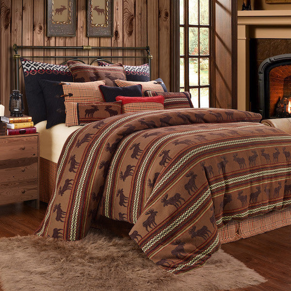 Bayfield Moose Duvet Rustic Bedding Set | The Cabin Shack