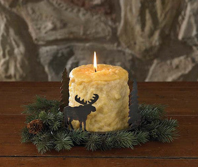Cabin Decor - Moose Candle Pan - The Cabin Shack