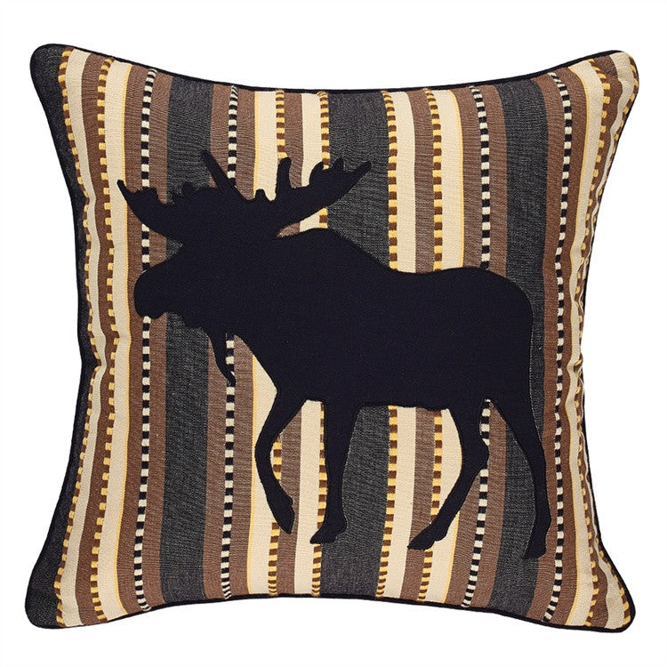 Moose Throw Pillow - 18""