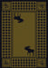 Cabin Decor - Green Moose Retreat Lodge Rug Collection - The Cabin Shack