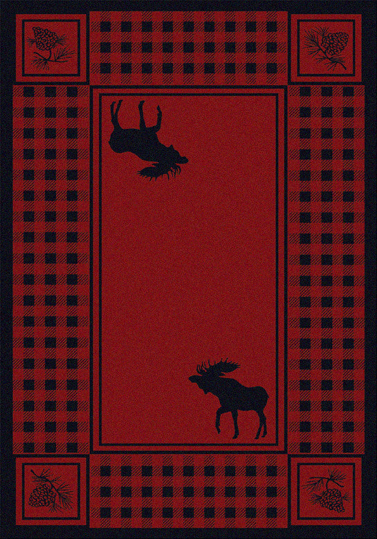 Cabin Rugs | Red Moose Retreat Rug Small | The Cabin Shack
