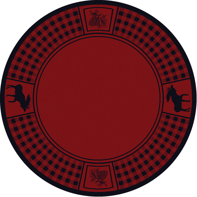 Cabin Rugs | Red Moose Retreat Rug Round | The Cabin Shack