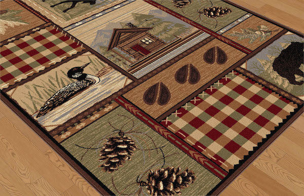 Northern Getaway Rustic Rug Collection
