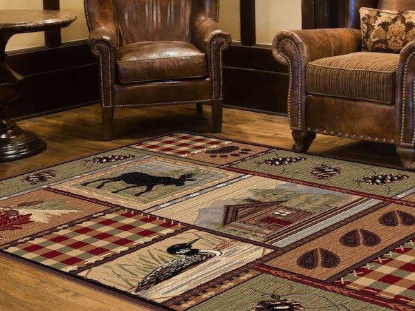 Rocky Ridge Rustic Lodge Rug Collection The Cabin Shack