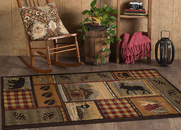 Northern Getaway Rustic Lodge Rugs The Cabin Shack