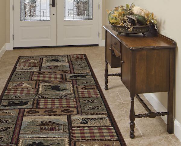 Northern Getaway Rustic Lodge Rug Runner | The Cabin Shack