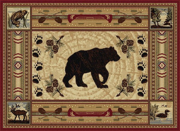 Teton Ridge Rustic Lodge Rug Collection | The Cabin Shack
