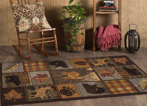 Rocky Ridge Rustic Lodge Rug Collection | The Cabin Shack