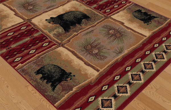 Legends of Bear Rustic Rug Collection