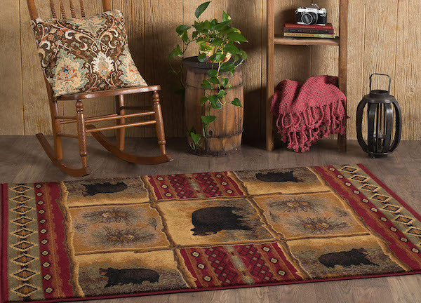 Legends of Bear Rustic Lodge Rugs | The Cabin Shack