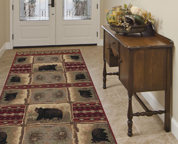 Legends of Bear Rustic Lodge Rug Runner | The Cabin Shack
