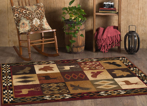 High and Low Places Rustic Rug Collection | The Cabin Shack