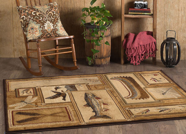 Glacier Lake Rustic Lodge Rugs | The Cabin Shack