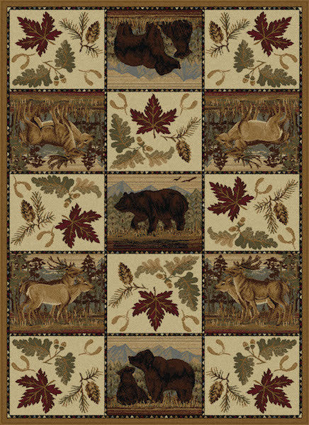 Denali Retreat Rustic Lodge Rug Collection | The Cabin Shack