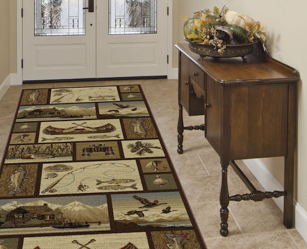 Shadow Mountain Lake Rustic Lodge Rug Runner | The Cabin Shack